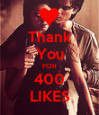Thank You FOR 400 LIKES - Personalised Poster large
