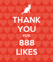 THANK YOU FOR 888 LIKES - Personalised Poster large