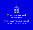 That awkward moment when the swimming pool is in the library - Personalised Poster large