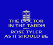 THE DOCTOR IN THE TARDIS WITH ROSE TYLER AS IT SHOULD BE - Personalised Poster large