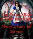 The Vorpal Blade is Swift and Keen and Always ready for Service - Personalised Poster large