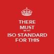 THERE MUST Be An ISO STANDARD FOR THIS - Personalised Poster large