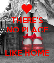 THERE'S NO PLACE   LIKE HOME - Personalised Poster large
