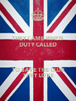 THEY CAME WHEN  DUTY CALLED  TO SAVE THE CLUB THEY LOVE - Personalised Poster large