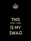 THIS RIGHT HERE IS MY SWAG - Personalised Poster large