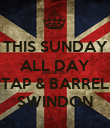 THIS SUNDAY ALL DAY SKANK OUT TAP & BARREL SWINDON - Personalised Poster large