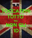 TOCCATEMI TUTTO  MA  NON GLI 1D - Personalised Poster large