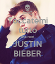 Toccatemi tutto ma non JUSTIN BIEBER - Personalised Large Wall Decal