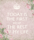 TODAY IS THE FIRST DAY OF THE REST OF MY LIFE - Personalised Poster large