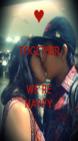 TOGETHER   WE' RE HAPPY - Personalised Poster large