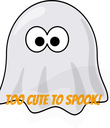 TOO CUTE TO SPOOK! - Personalised Poster large