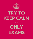 TRY TO KEEP CALM IT'S ONLY EXAMS - Personalised Poster large