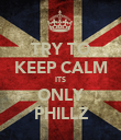 TRY TO KEEP CALM ITS ONLY PHILLZ - Personalised Poster large
