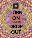 TURN ON TUNE IN DROP OUT - Personalised Poster large