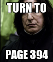TURN TO PAGE 394 - Personalised Poster large