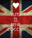 TUTU TI  VOGLIO  BENE  COCCHI! - Personalised Large Wall Decal