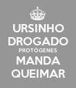 URSINHO DROGADO PROTÓGENES MANDA QUEIMAR - Personalised Large Wall Decal