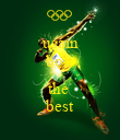 usain bolt is the  best - Personalised Poster large
