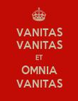 VANITAS VANITAS ET OMNIA VANITAS - Personalised Poster large