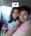 Veer love Kinjal  - Personalised Poster large