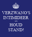 VERZWANO'S INTIMIDEER EN HOUD STAND! - Personalised Large Wall Decal