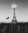 Vive La France   - Personalised Poster large