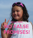 VOTE FOR NO FALSE PROMISES! - Personalised Poster large