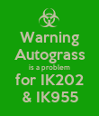 Warning Autograss is a problem for IK202 & IK955 - Personalised Poster large