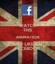 WATCH THIS ANIMATION AND LIKE ON FACEBOOK - Personalised Poster large