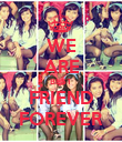 WE ARE BEST FRIEND FOREVER - Personalised Poster large
