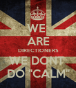 "WE  ARE DIRECTIONERS WE DONT  DO ""CALM"" - Personalised Poster large"