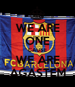 WE ARE ONE CAUSE WE ARE AGASTEM - Personalised Poster large