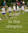 we can beat any one in the olimpics - Personalised Poster large