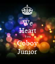 We Heart You Coboy Junior - Personalised Poster large