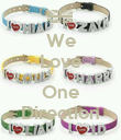 We Love  One Direction - Personalised Poster small