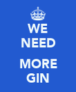 WE NEED  MORE GIN - Personalised Poster large