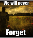 We will never  Forget  - Personalised Poster large