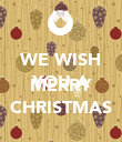 WE WISH YOU A  MERRY CHRISTMAS - Personalised Poster large