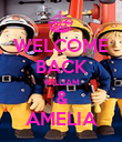 WELCOME BACK WILLIAM & AMELIA - Personalised Poster large