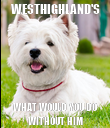 WESTHIGHLAND'S WHAT WOULD YOU DO WITHOUT HIM - Personalised Poster large