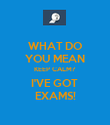 WHAT DO YOU MEAN KEEP CALM? I'VE GOT  EXAMS! - Personalised Poster large