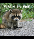 what do you want - Personalised Poster large