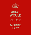 WHAT WOULD CHUCK NORRIS DO? - Personalised Poster large