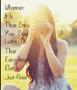 Whatever  It Is  That Stirs Your Soul  Listen To  That  Everything  Else Is  Just Noise - Personalised Poster large