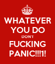 WHATEVER YOU DO DON'T FUCKING PANIC!!!1! - Personalised Poster large