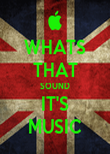 WHATS THAT SOUND IT'S MUSIC - Personalised Poster large