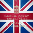 WHEN IN DOUBT REMAIN CALM AND DATE A PSYCHOLOGIST - Personalised Poster large
