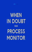 WHEN IN DOUBT RUN PROCESS MONITOR - Personalised Poster large