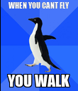 WHEN YOU CANT FLY YOU WALK - Personalised Poster large