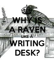 WHY IS A RAVEN LIKE A WRITING DESK? - Personalised Poster large